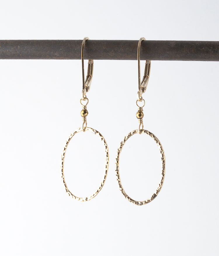 Gold-filled.   Earrings, 1.5""