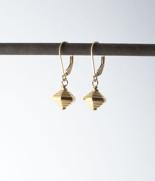Vermeil, gold-fill.   Earrings, 1.25""