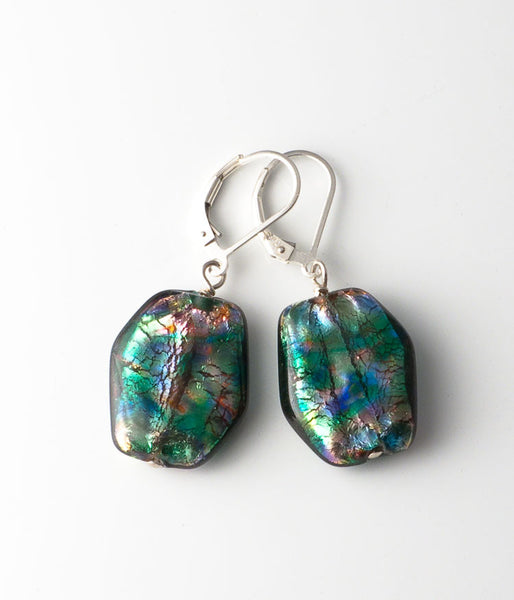 Japanese Foil Glass Earrings