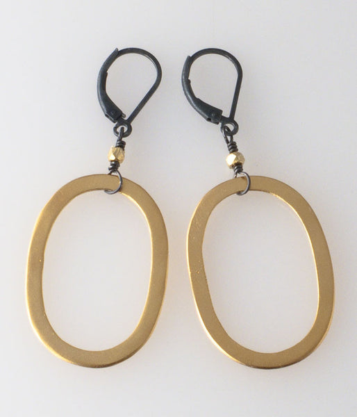 Gold Vermeil Oval Earrings