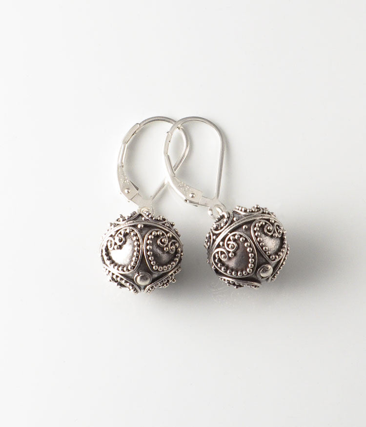 Granulated Sterling Earrings