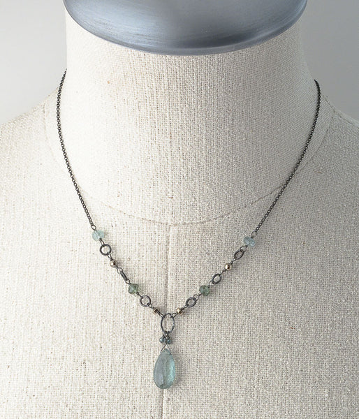 Aquamarine & Apatite Necklace