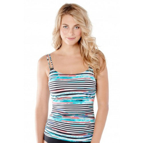 Christina DCup Stripe Tankini Set