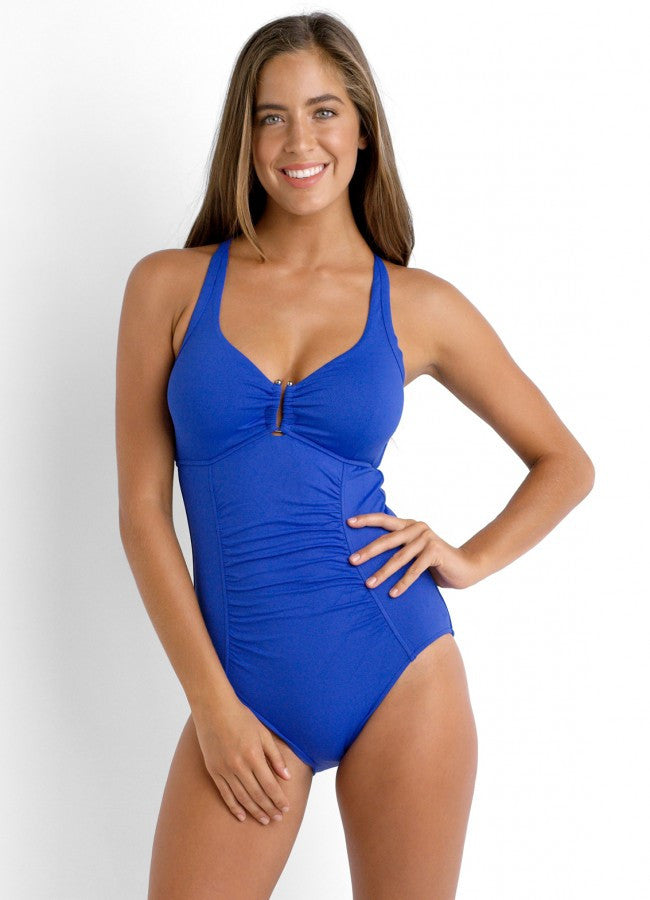 Seafolly D Cup U Halter One Piece Maillot