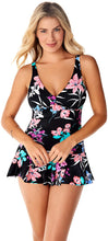Load image into Gallery viewer, Penbrooke Garden Lily V-Neck Swim Dress