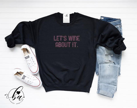 Blonde Ambition Let's Wine About it Sweater