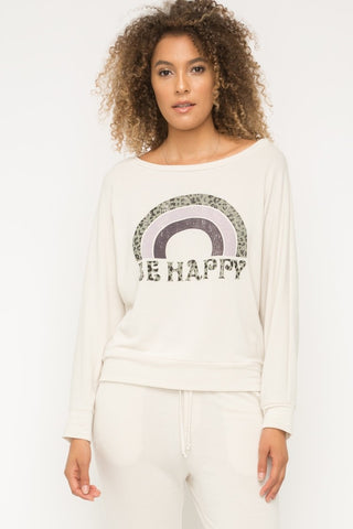 Mystree Be Happy Lounge Shirt