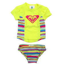 Roxy Baby Girls Island Tiles Rashguard Set