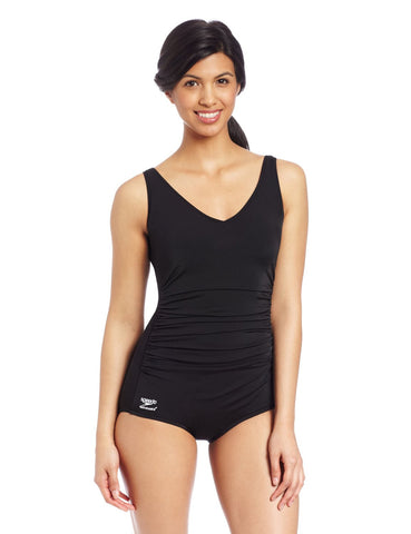 Speedo Conservative Side Shirred Tank Endurance Swimsuit