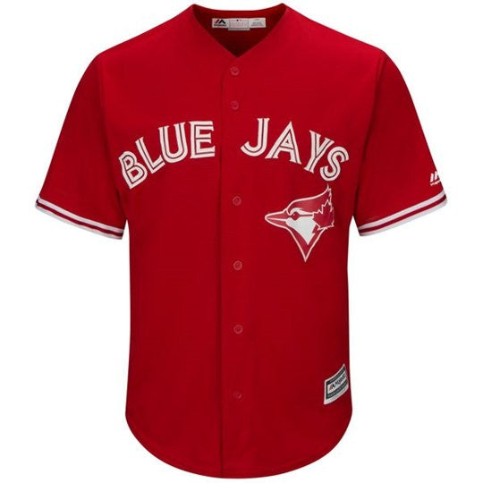 Toronto Blue Jays Scarlet 2017 Cool Base Replica Jersey by Majestic (Ladies)
