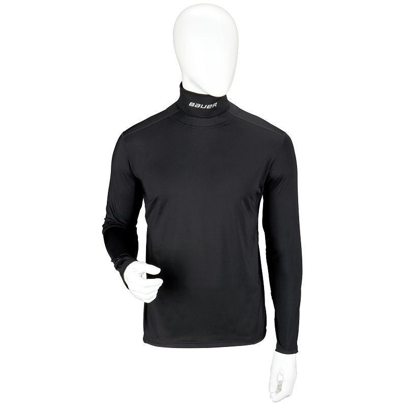 Bauer Core LS Top Base Layer with Integrated Neck Guard