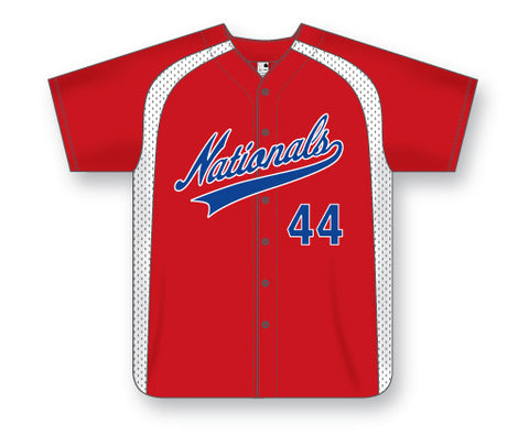 AK Full Button Series Baseball Jerseys