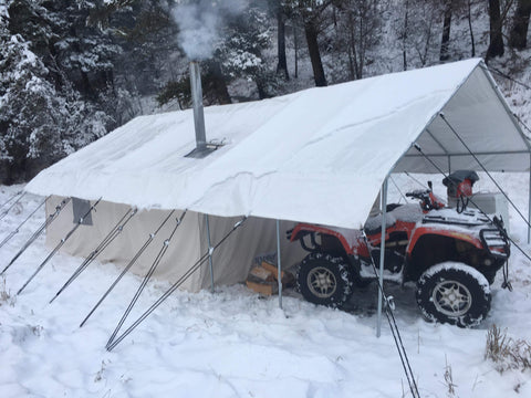 Canvas Winter Tent - Wall Tent