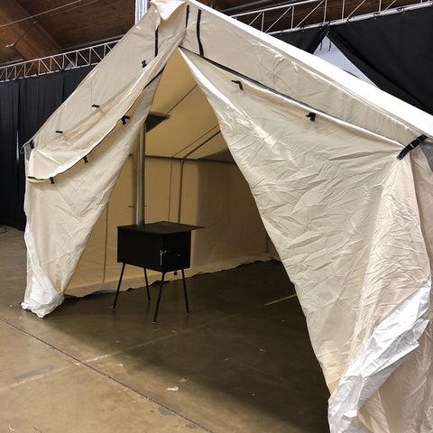 Canvas Tent with Wood Stove