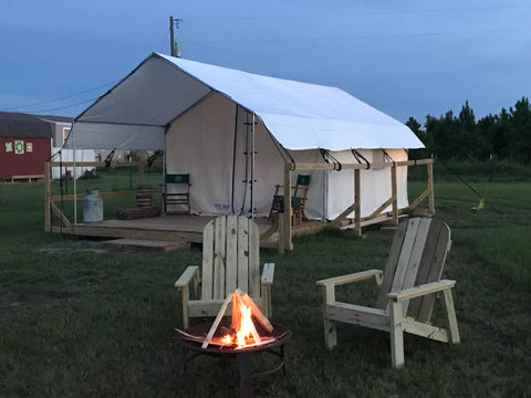 Wall Tent on Wooden Platform - Platform Tent