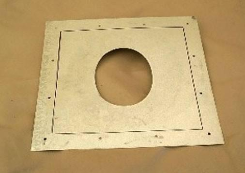 Stove Accessories - Sheet Metal Stove Pipe Wall Plate