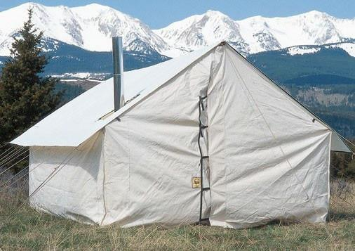 Wall Tents - UPGRADE To Extended Poly Tent Fly - Wilderness Tent Package