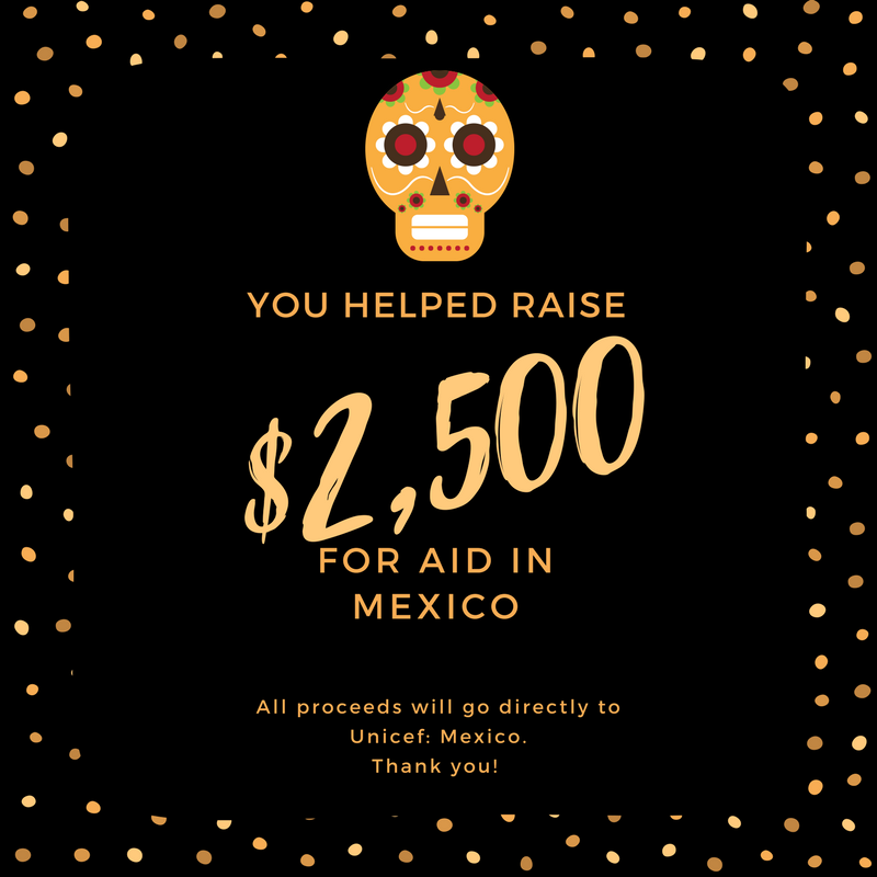 Update on Dia de los Muertos donations for Unicef: Mexico!