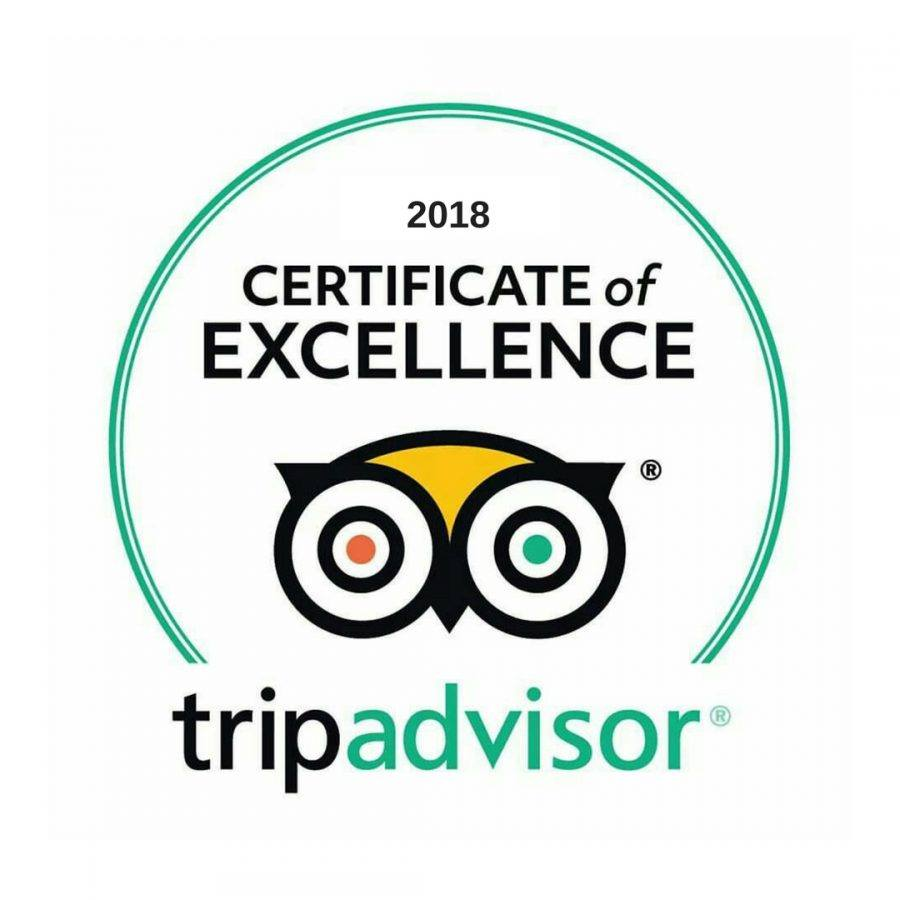 Proud Recipients of the Certificate of Excellence 2018