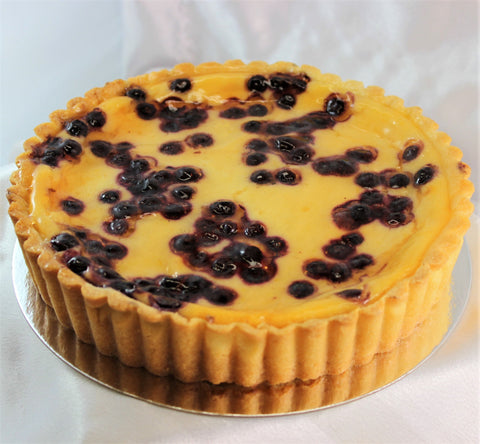 Blueberry Yogurt Flan