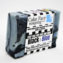 Load image into Gallery viewer, Black & Blue - CakeFaceSoaping