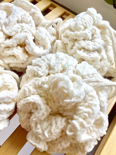 Cotton lathering poof - CakeFaceSoaping