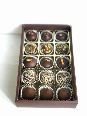 Box of 15 Truffles - hellococoachocolate