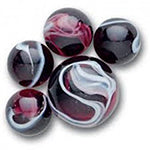 Red Glass Marbles