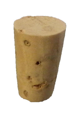 Size 0  Tapered Cork Stoppers Pack of 25
