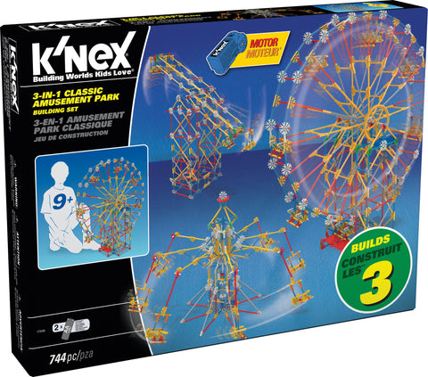 3-in-1 Classic Amusement Park Rides Building Set, by K'Nex