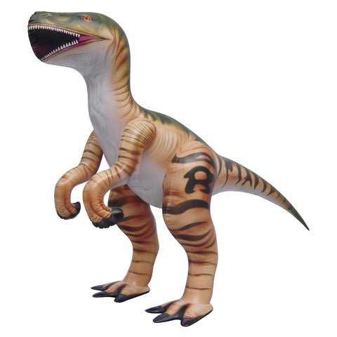 Inflatable Velociraptor Dinosaur Model - 51 Inch Long Dino Figure