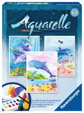 Aquarelle 3  WaterColor Paintings Arts & Crafts Kit by Ravensburger DOLPHINS