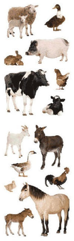 Mrs Grossman's Stickers - Barnyard Animal Photos