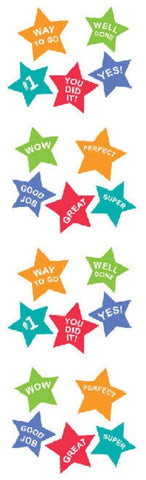 Mini Roll - Mrs. Grossman's Stickers - Super Stars w Messages