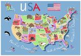 USA Map 24 Piece Supersized Floor Puzzle, by Ravensburger