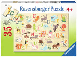 A-Z Animals 35 Piece Puzzle, by Ravensburger