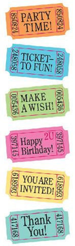 Mrs. Grossman's Stickers Party Tickets - Colors Vary