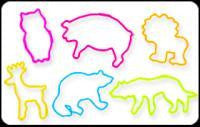 Pack of 24 ANIMAL CRACKERZ Shaped  Rubber Bands Glow-In-The-Dark