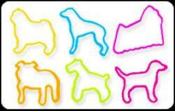 BAG O DOGS1 Glow-in-the-Dark Rubber Band Bracelets 24pk