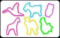 NOAH'S ARK Animals Glow-in-the-Dark Rubber Band Bracelets 24pk