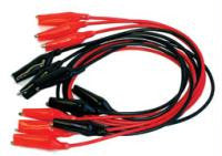 Alligator Clips Premium Six 12 Inch Leads (3 Red/3 Black)