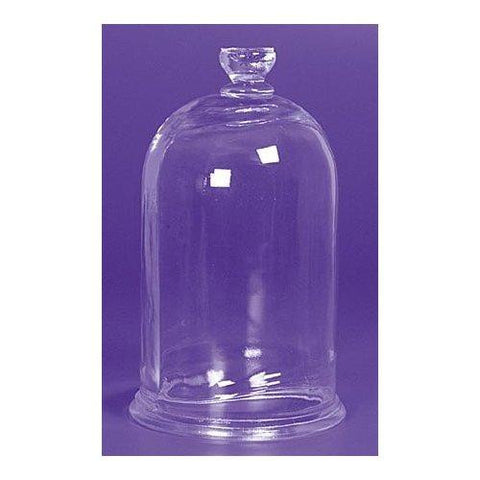 Glass Bell Jar 5x9 inches: Closed Top w/Fixed Knob for Vacuum Experiments