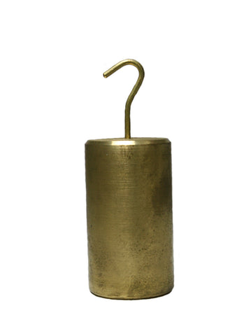 1000 Gram Single Hooked Brass Mass - Calibration Weight - Online Science Mall