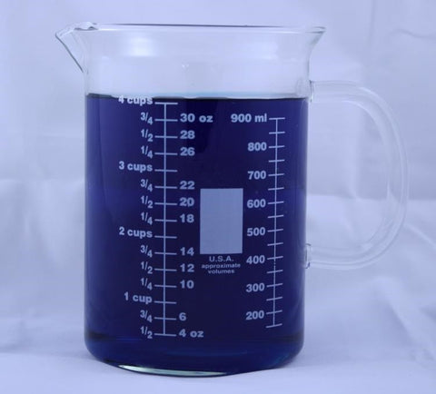 1000mL Glass Beaker Mug with Pouring Spout - Online Science Mall