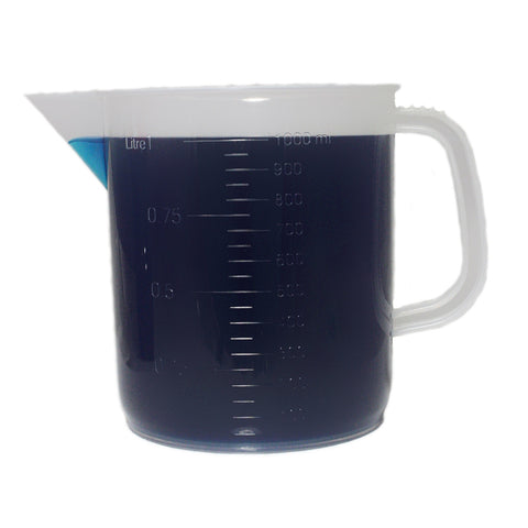 1000mL Polypropylene Pitcher Beaker - 1 Liter Short Form Handled Beaker, 6 Pack - Online Science Mall
