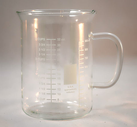 1000ml Glass Beaker Mug without Spout - Online Science Mall