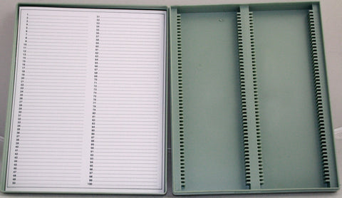 Microscope Plastic Slide Box: 100 Slide Capacity