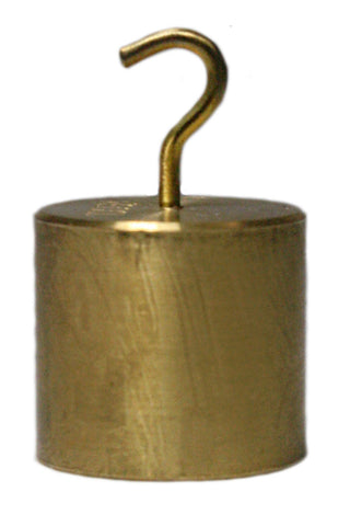 100 Gram Single Hooked Brass Mass - Calibration Weight - Online Science Mall