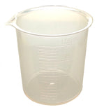 Polypropylene Beaker Graduated 100mL Griffin Style Spout for Laboratory Pk of 4