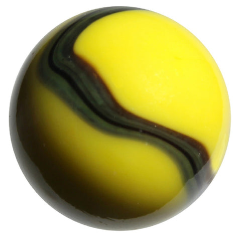 "Massive Glass ""Bumblebee"" Marble - 42 mm - by House of Marbles"